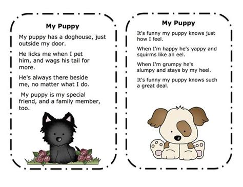 puppy song preschool printables puppy songs poems printable pet projects snacks