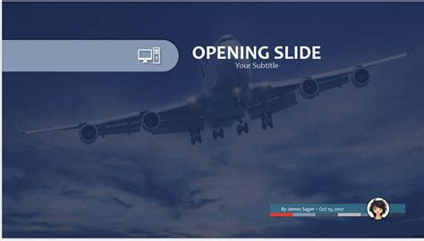 Free Commercial Airplane Ppt 76254 Sagefox Powerpoint Airplane Powerpoint Template