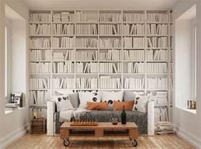 ohpopsi modern minimalist bookcase wall mural ebay