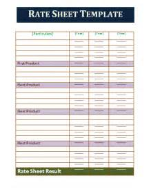rate sheet template part time resume template new calendar template site