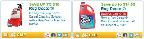 Rug Doctor Printable Coupon by Great New Rug Doctor Coupon Savings Club Offer Kroger