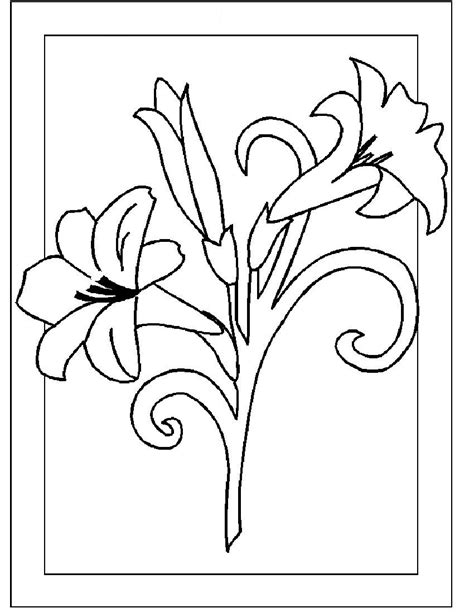 printable flowers for cards flower coloring pages part 3