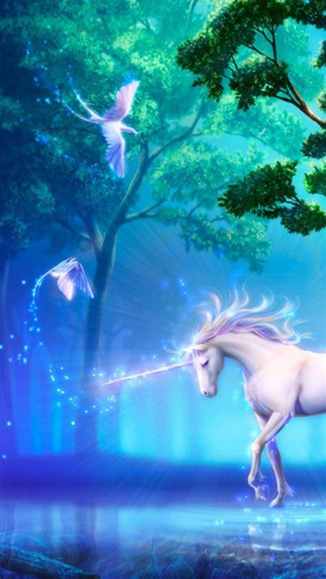 wallpaper iphone 5 unicorn 640x1136 unicorn doves trees sea magic iphone 5 wallpaper