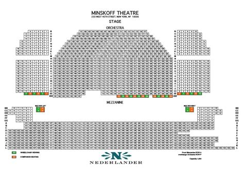 minskoff theatre seating plan new york minskoff theatre seating chart broadway s minskoff