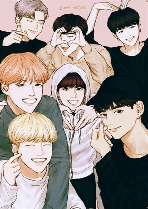 bts anime pictures 2395 best images about kpop fanart on chibi