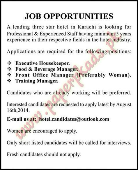 Cleaning Job Description Resume by Executive Housekeeper Food And Beverage Manager Front