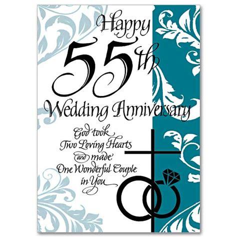 happy 55th wedding anniversary 55th wedding anniversary card