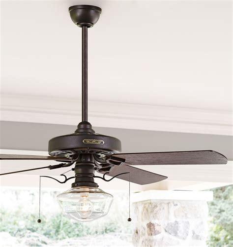 schoolhouse light ceiling fan heron ceiling fan with clear ogee shade oak plywood fan