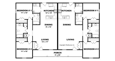 apartment plans 4 plex house plans