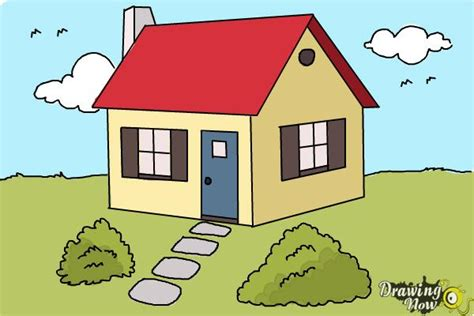 how to draw a house for kids step by step drawing how to draw a house step by step drawingnow
