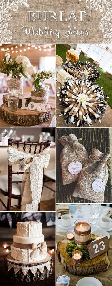 top 20 country rustic lace and burlap wedding ideas including invitations and favors