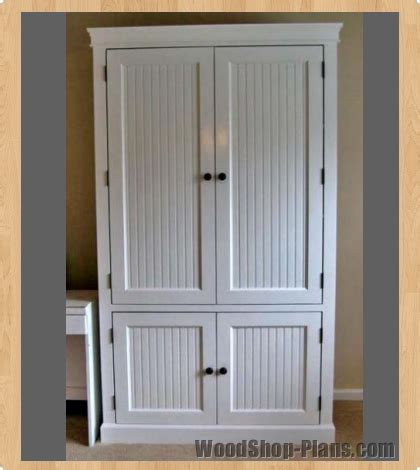 armoire wardrobe plans pdf diy woodworking plans armoire download woodworking