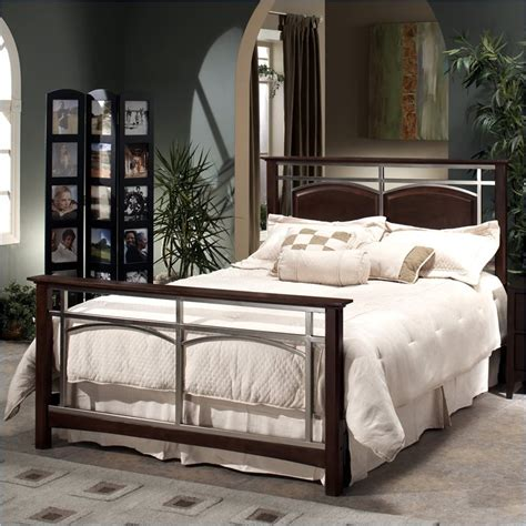 metal bed set hillsdale banyan metal bed 4 pc nickel bedroom set ebay