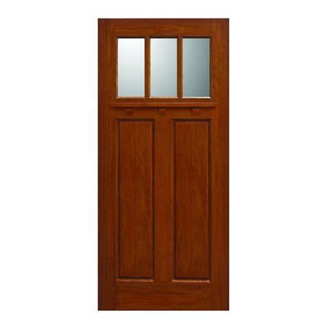 36 Inch Front Door 36 X 80 Exterior Slab Single Door Front Doors Doors The Home Depot
