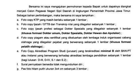 contoh surat lamaran kerja cq wisata dan info sumbar