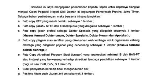 contoh surat lamaran kerja cpns terbaru 171 contoh surat untuk