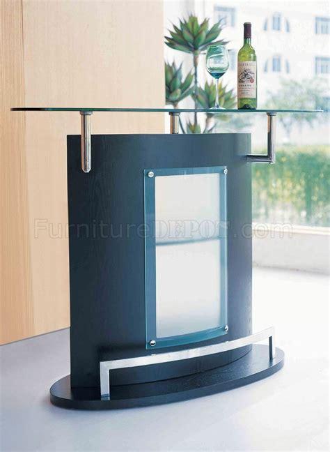 glass top bar black modern bar table w glass top chromed metal accent