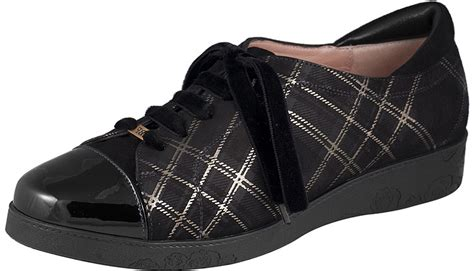 Tartan Comby beautifeel cella black tartan suede combi sole provisions