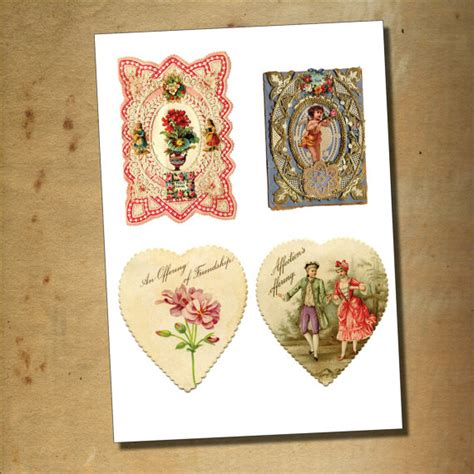 decoupage decals vintage valentines decoupage cherubs sticker