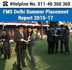 Fms Executive Mba Placements by Fms Delhi Summer Placement 2015 17 20 Increase In Fmcg