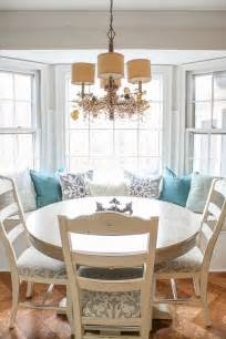 bay window breakfast nook holiday home tour kitchen pretty handy girl