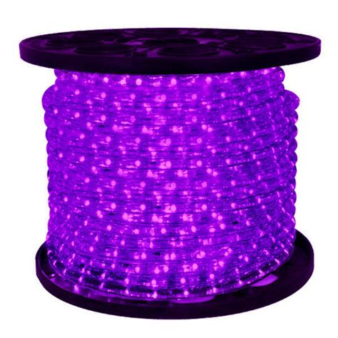 led purple rope light 150 ft spool