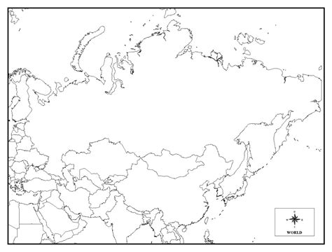 coloring page map of russia printable map of russia coloring home