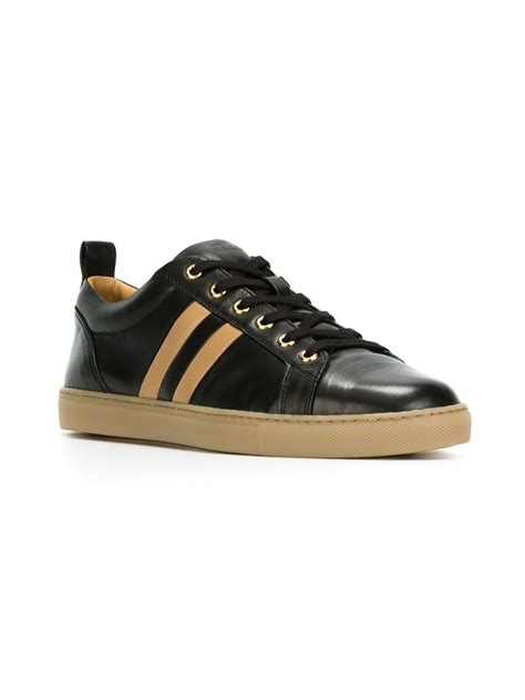 bally sneakers womens lyst bally striped low top sneakers in black
