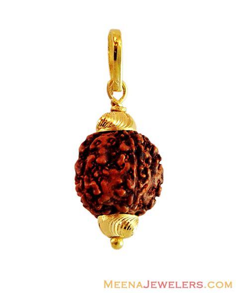 gold pendant with rudraksha peom13470 us 224 22kt