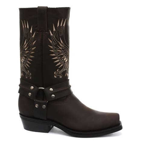 cowboy boots uk grinders bald eagle western cowboy boot brown