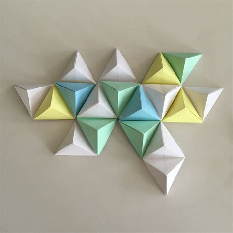 Paper Folding Pyramid - origami triangle pyramid www pixshark images