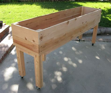 Raised Bed Planter Plans by Portable Elevated Planter Patio