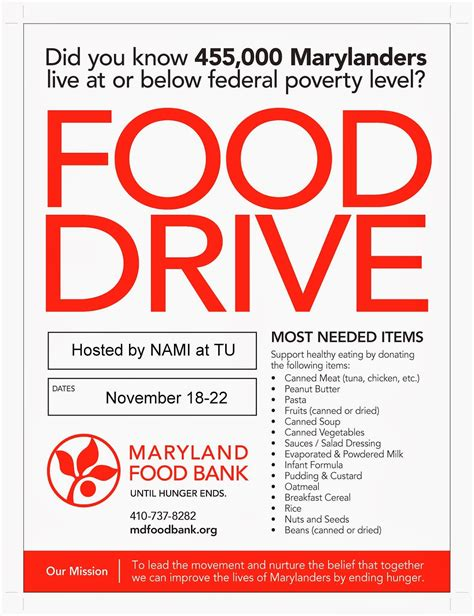 16 food drive flyer template free images food drive