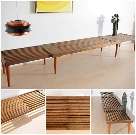 nelson bench diy expanding slat bench diy reupholstery furniture building pinterest george