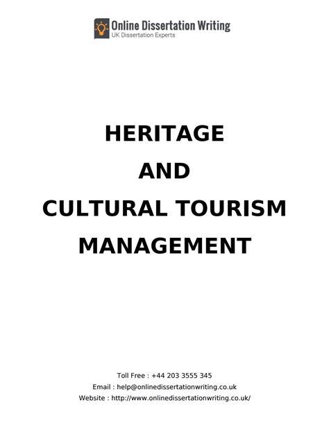 tourism dissertation exles dissertation sle on cultural heritage tourism by