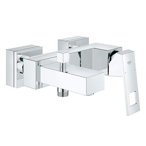 grohe bathtubs grohe eurocube wall mounted single lever bath shower mixer tap