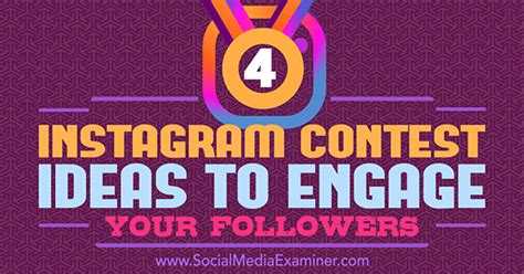 Instagram Comment Giveaway - 4 instagram contest ideas to engage your followers social media examiner