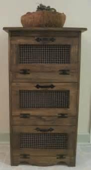 rustic vegetable bin storage cupboard by dlightfuldesigns