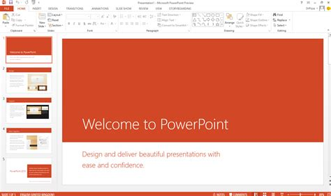 how to use a template in powerpoint first look powerpoint 2013 ars technica