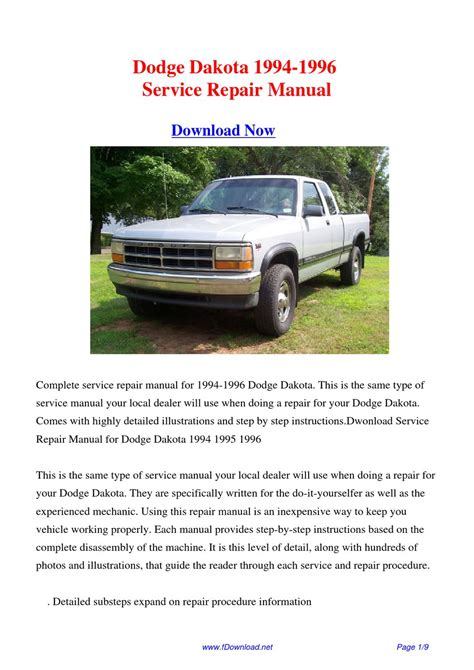 how to download repair manuals 1995 dodge dakota engine control dodge dakota 1994 1996 repair manual by fu juan issuu