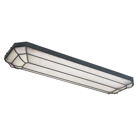 Ceiling Mounted Fluorescent Light Fixtures World Imports Wi720242 4 Light Linear Fluorescent Flush Mount Ceiling Light Atg Stores