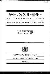 WHO IRIS: WHOQOL-BREF : introduction, administration