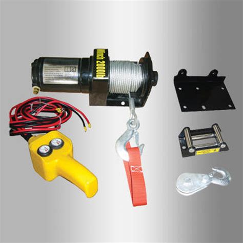 boat winch with remote control 2000 lb electric winch 12v volt with remote control quad
