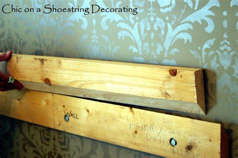 how to mount a headboard to the wall chic on a shoestring decorating how to make an