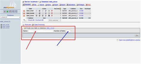 Membuat Database Localhost   cara membuat database di localhost