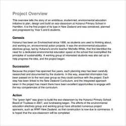 Project Overview Template by Doc 600730 Project Overview Template Project Overview
