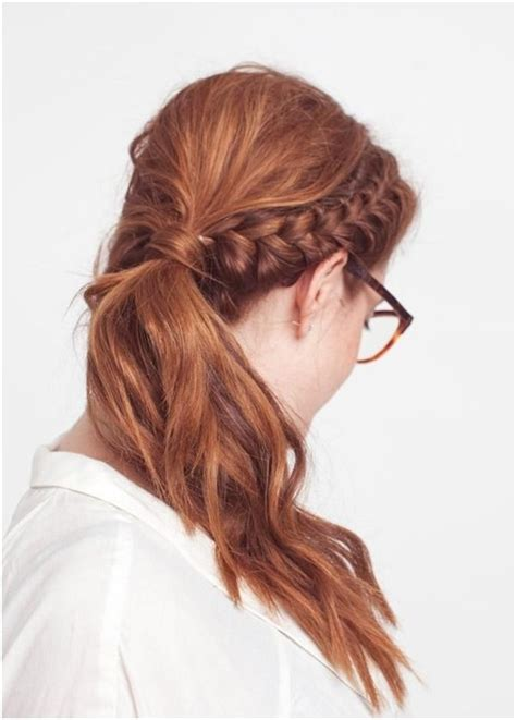 hair braided into pony tail 15 cute hairstyles with braids popular haircuts