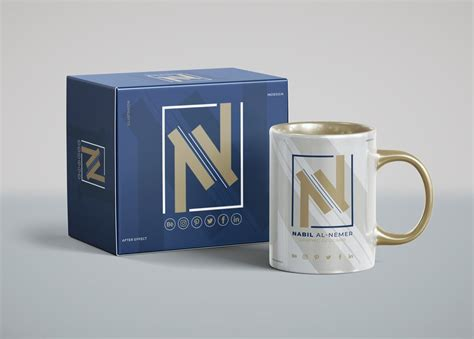 Box Mug mug with box packaging mockup mockupworld