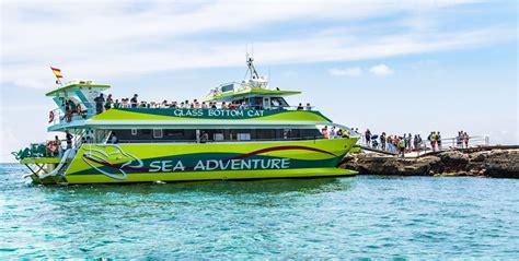glass bottom boat cala millor glass bottom catamaran illa balear mallorca majorca magazine