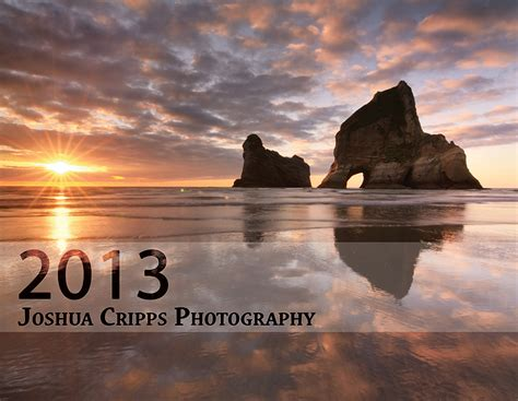 Calendar Covers 2013 Wall Calendar Joshua Cripps Photography